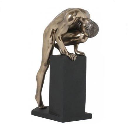 Статуэтка декоративная Veronese Design Artistic Nudes WU72471А4, Высота: 220 мм, Материал: Полистоун, Цвет: Бр