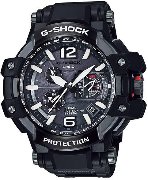 Часы электронные наручные мужские Casio G-SHOCK GPW-1000FC-1AER, Механизм: Кварц, Браслет: Из карбона и полиме