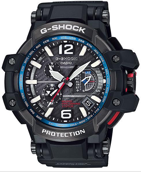 Часы электронные наручные мужские Casio G-SHOCK GPW-1000-1A, Механизм: Кварц, Браслет: Из карбона и полимерног