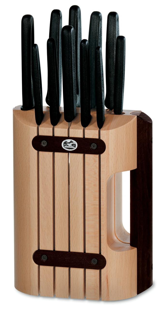 Набор ножей кухонных Victorinox Cutlery Block, Материал клинка: Нержавеющая сталь, Материал рукояти: Полипропи