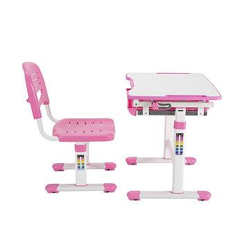 Парта-трансформер детская Deluxe DLCD-B201P, Материал: Пластик, металл, Цвет: Розовый