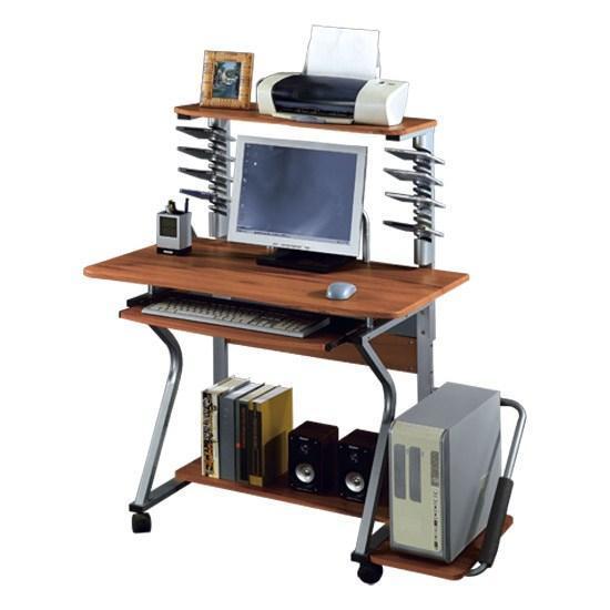Стол компьютерный Deluxe Ferretti, Материал: МДФ, Цвет: Красно-коричневый, (DLFT-350BCT)