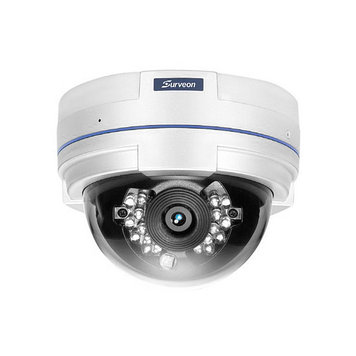Камера IP купольная Surveon CAM4311, Разрешение: 2 Mpi dpi, Тип объектива: фиксиронанный, f=4 мм, Цвет: Белый