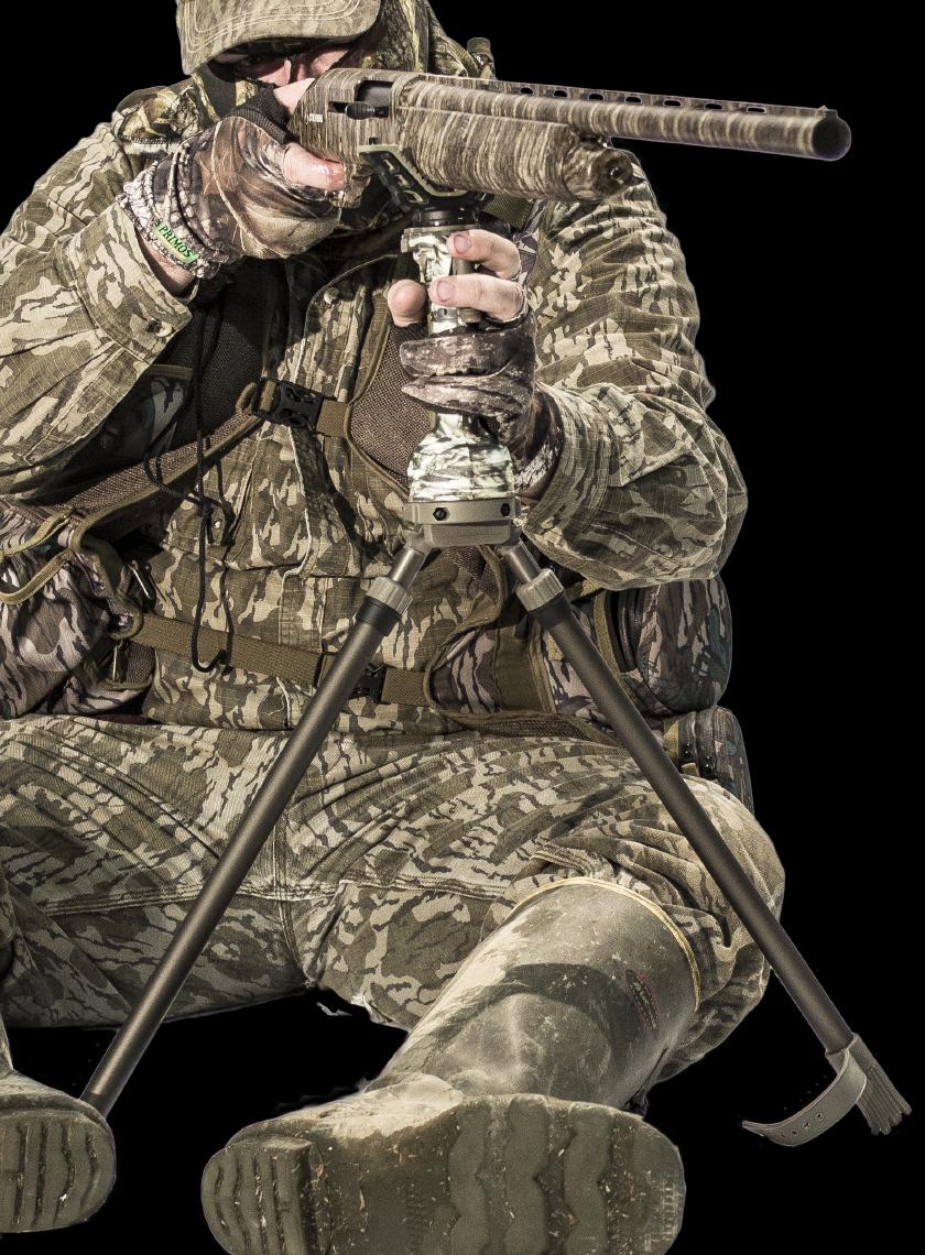 Штатив бипод для оружия Primos Trigger stick GEN3 Short Bipod, Высота: 457 - 965 мм, Да, камера/оптический при