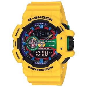 Часы электронные наручные мужские Casio G-SHOCK GA-400-9A, Механизм: Кварц, Браслет: Ремешок из полимерного ма