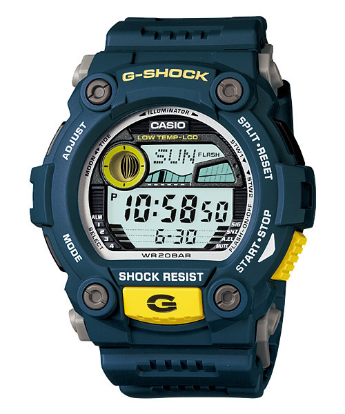 Часы электронные наручные мужские Casio G-SHOCK G-7900-2DR, Механизм: Кварц, Браслет: Ремешок из полимерного м