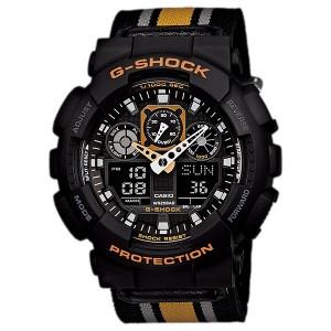 Часы электронные наручные мужские Casio G-SHOCK GA-100MC-1A4DR, Механизм: Кварц, Браслет: Ремешок из полимерно