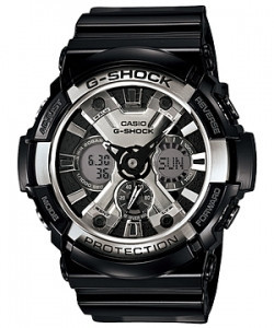 Часы электронные наручные мужские Casio G-SHOCK GA-200-1ADR, Механизм: Кварц, Браслет: Ремешок из полимерного
