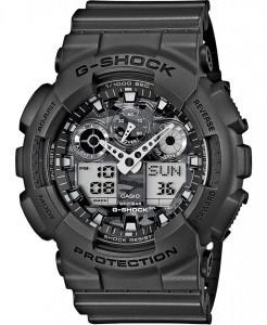 Часы электронные наручные мужские Casio G-SHOCK GA-100CF-8ADR, Механизм: Кварц, Браслет: Ремешок из полимерног