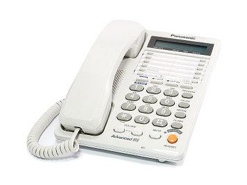 Телефон проводной стационарный Panasonic KX-TS2368 CAW, 20 контактов, Режимы: Тональный, импульсный, Цвет: Бел
