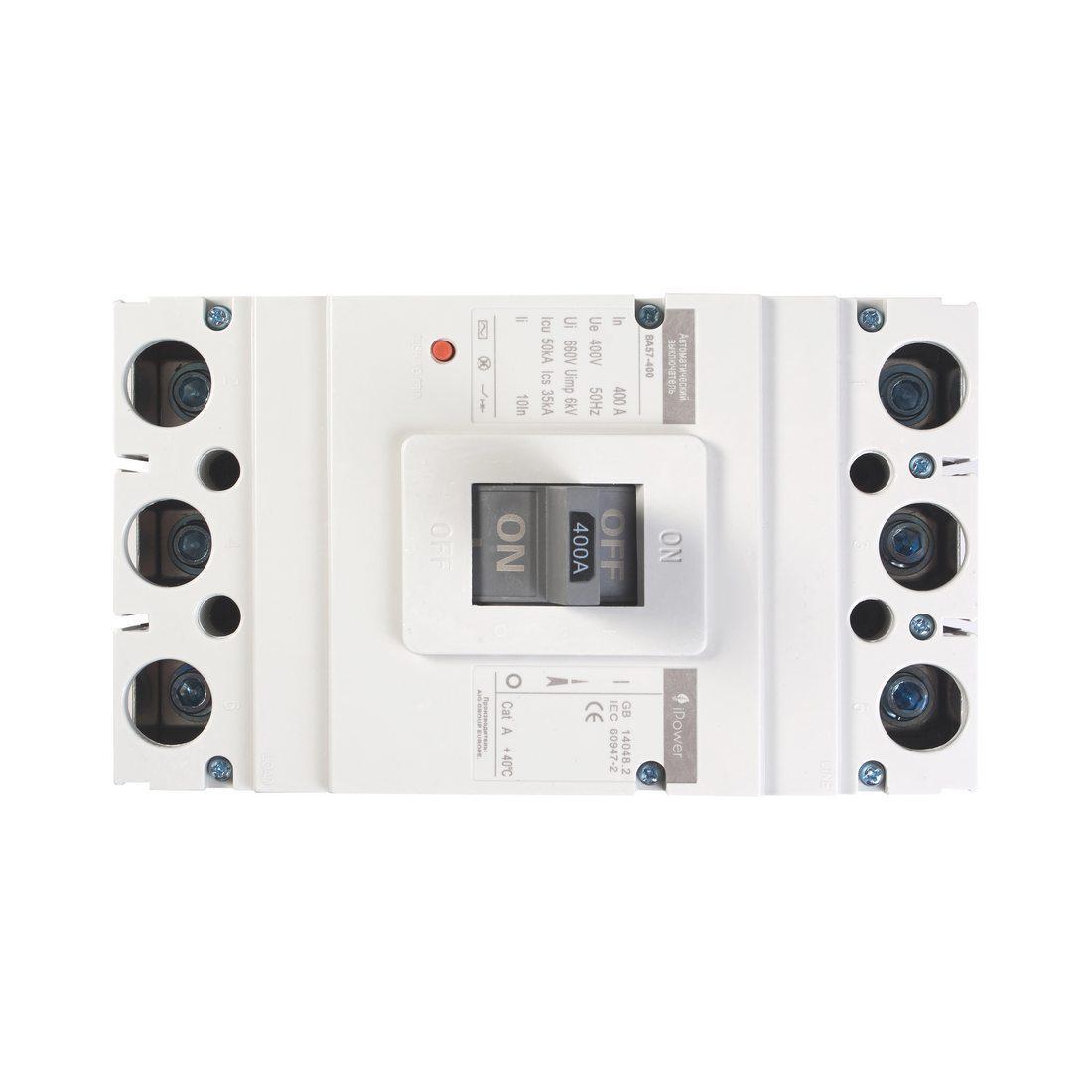 Автоматический выключатель установочный iPower ВА57-400 3P 250А, 380/660 В, Кол-во полюсов: 3, Предел отключен
