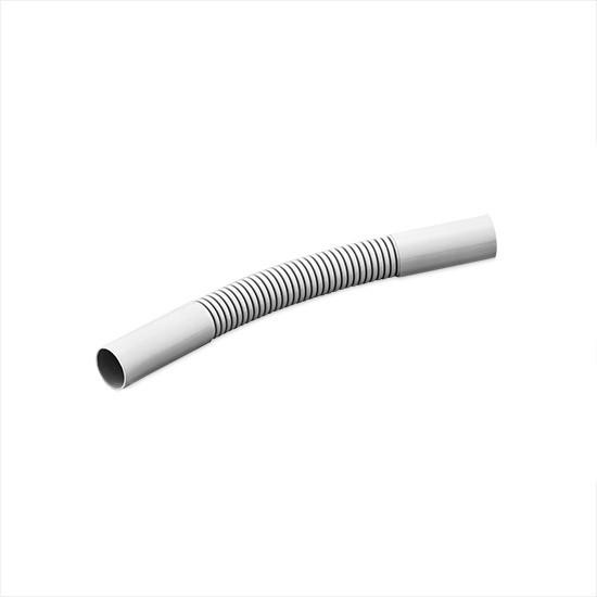 Поворот соединительный для трубы гофрированный Рувинил П01416, Диаметр: 16 мм, Поливинилхлорид самозатухающий,