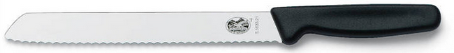 Нож хлебный Victorinox Bread Knife Serrated, Длина клинка: 180 мм, Материал клинка: Нержавеющая сталь, Материа