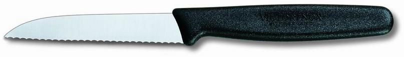 Нож кухонный Victorinox Paring Serrated Knife, Общая длина: 188  мм, Длина клинка: 80 мм, Материал клинка: Нер
