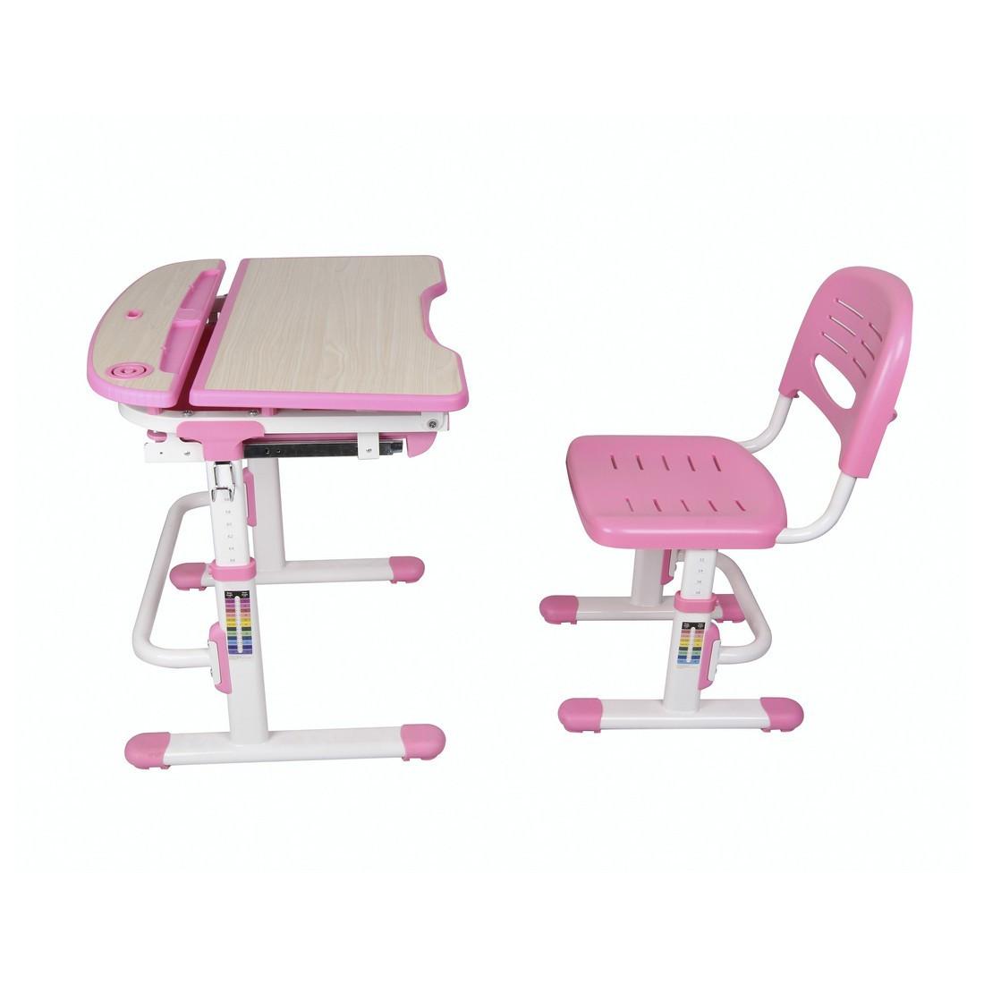 Парта-трансформер детская Deluxe DLCD-C304P, Материал: Пластик, металл, Цвет: Розовый