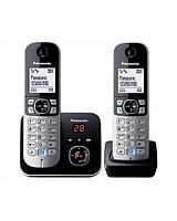 Радиотелефон DECT Panasonic KX-TG6822 CAB, 120 контактов, АОН: Есть, Ресурс: Время зарядки - до 7 ч; емкость -