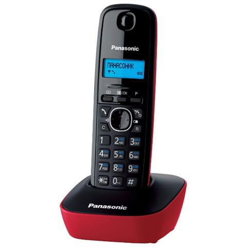 Радиотелефон DECT Panasonic KX-TG1611 CAR, 50 контактов, АОН: Есть, Ресурс: 550 мАч, время зарядки - до 7 ч, Р