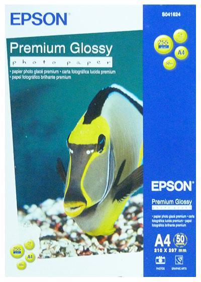 Фотобумага Epson Premium Glossy Photo Paper, A4, односторонняя, глянцевая, 255 г/м ², Упаковка: 50 листов, (C1