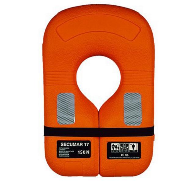 Спасательный хомут Secumar 17, Более 45 кг, Класс: EN396, Плавучесть: 150N, Цвет: Оранжевый