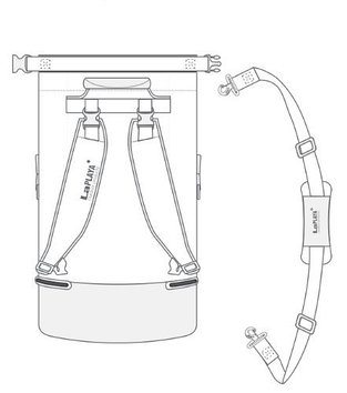 Сумка водонепроницаемая LaPlaya Dry Bag Cylinder, 50 л, Цвет: Чёрный, (800301)