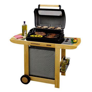 Грильница (BBQ) газовая на тележке Campingaz RBS Woody, Жарочная поверхность: 1600 см², Регулировка мощности: