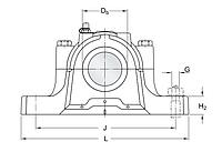 SNL 526 стационарный корпус SKF