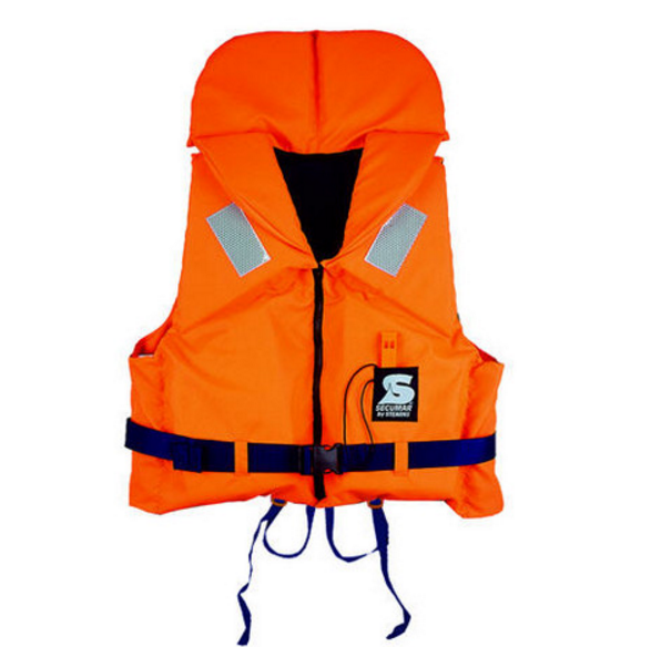Спасательный жилет Secumar Bravo, 80-120 кг, Класс: EN395, Плавучесть: 100N, Цвет: Оранжево-синий, (11677)