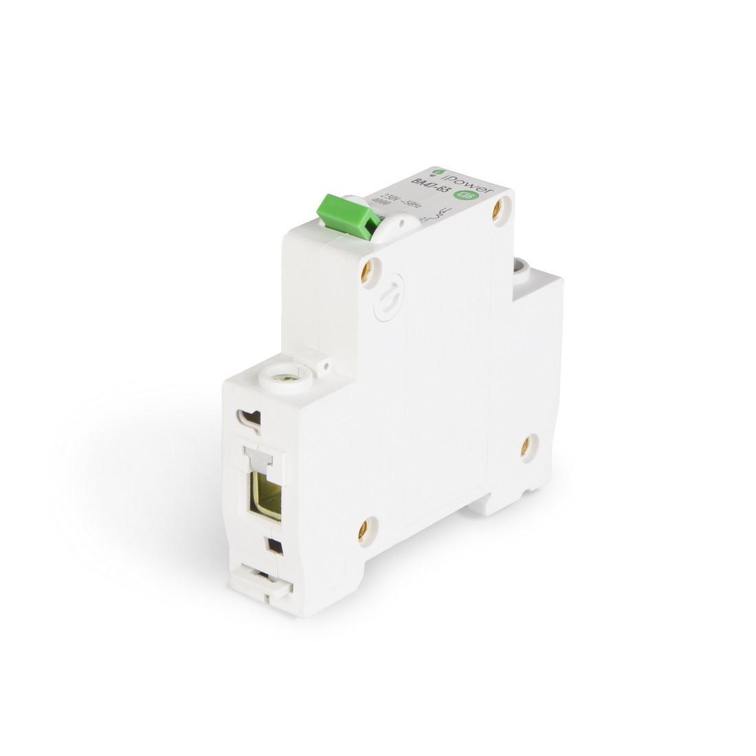 Автоматический выключатель реечный iPower ВА47-63 1P 10А, 230/400 В, Кол-во полюсов: 1, Предел отключения: 4,5