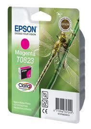 Картридж Epson C13T11234A10 (№T0823), Объем: 7,5 мл, Копий ( ISO 19752): 450, Цвет: Пурпурный, Совместимость: