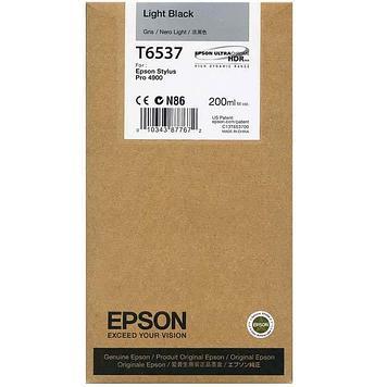 Картридж Epson C13T653700 (№T6537), Объем: 200 мл, Цвет: Серый, Совместимость: Stylus Pro 4900