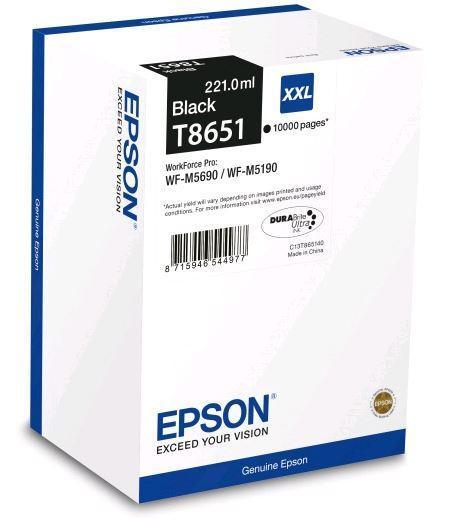 Картридж Epson C13T865140 (№T8651XXL), Объем: 221 мл, Копий ( ISO 19752): 10000, Цвет: Чёрный, Совместимость: