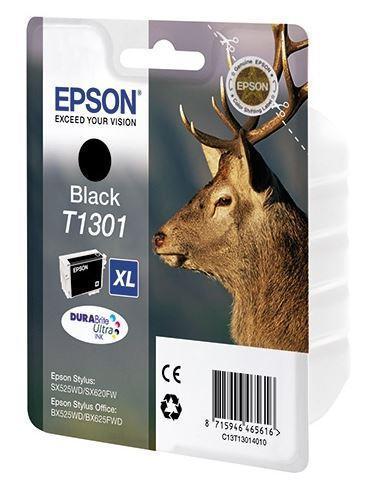 Картридж Epson C13T13014012 (№T1301XL), Объем: 25,4 мл, Копий ( ISO 19752): 945, Цвет: Чёрный, Совместимость: