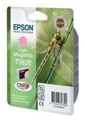 Картридж Epson C13T11264A10 (№T0826), Объем: 7,5 мл, Копий ( ISO 19752): 620, Цвет: Светло-пурпурный, Совмести