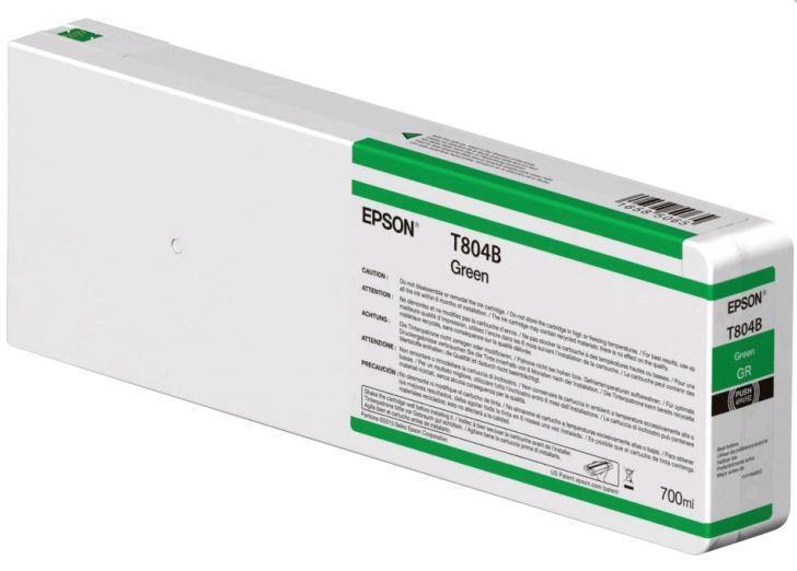 Картридж Epson C13T804B00 (№T804B), Объем: 700 мл, Цвет: Зелёный, Совместимость: SureColor SC-P6000/SC-P7000/S