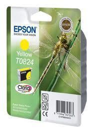 Картридж Epson C13T11244A10 (№T0824), Объем: 7,5 мл, Копий ( ISO 19752): 475, Цвет: Жёлтый, Совместимость: Sty