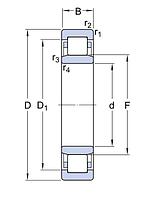 NU 2311 ECP/C3   подшипник  SKF