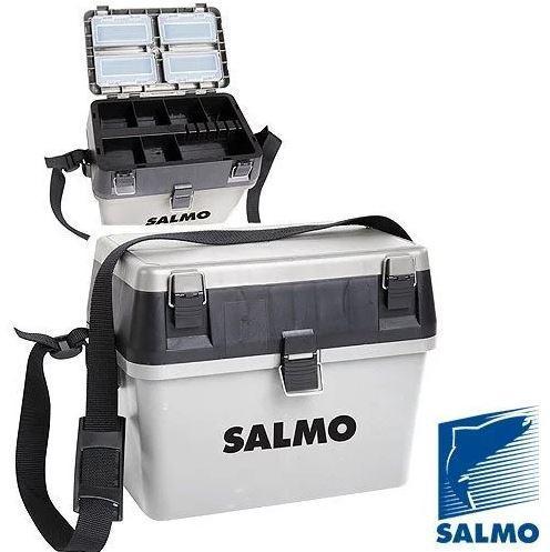 Ящик для замней рыбалки Salmo HS-2, Пластик, Цвет: Серый, Упаковка: Розничная