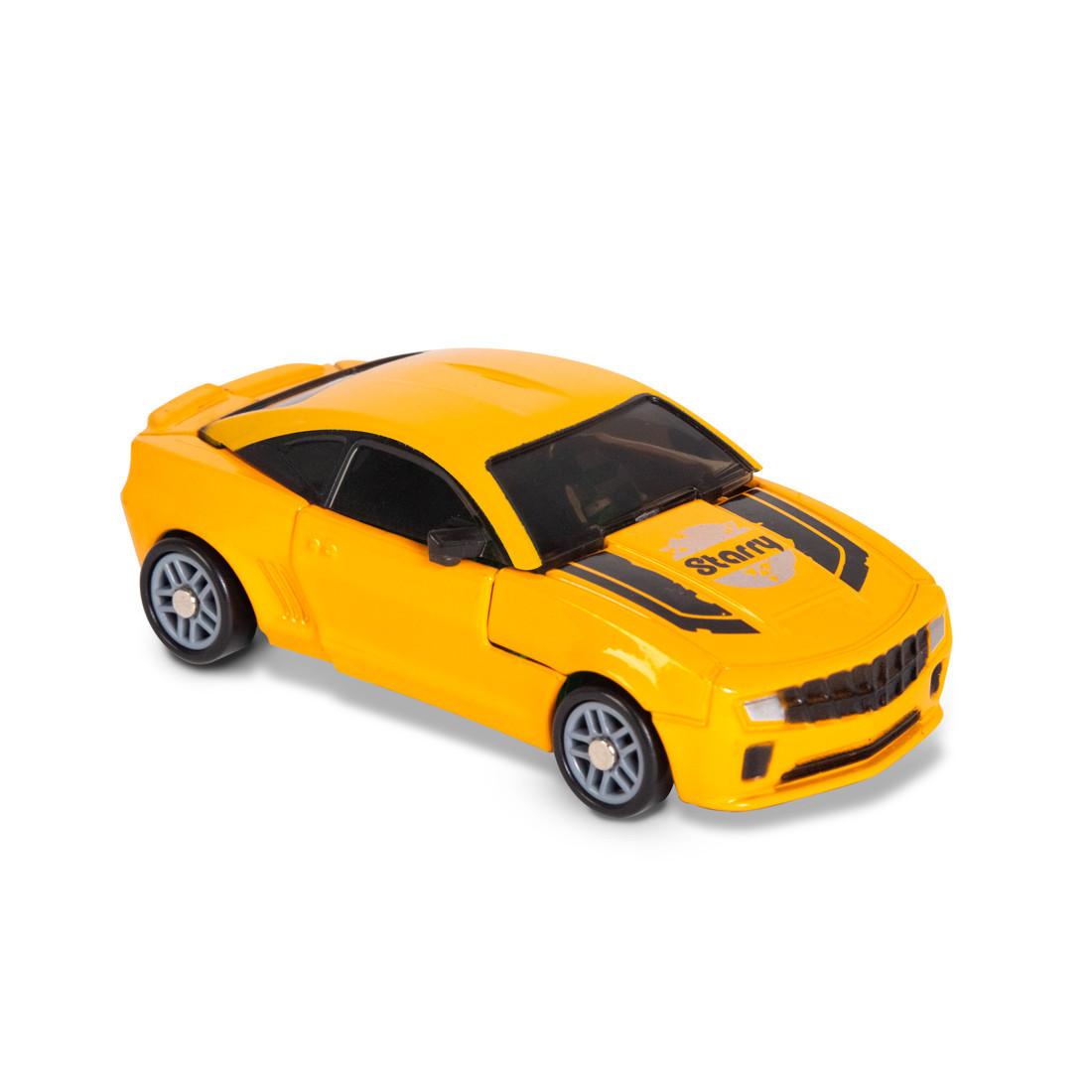 Игрушка трансформер Rastar RS Transformable car S, Трансформации: Робот, автомобиль, Цвет: Жёлтый, (66240Y)