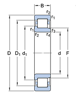 N 318 ECP/C3   подшипник  SKF