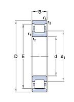 N 312 ECJ/C3   подшипник SKF