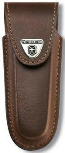 Чехол для ножа Victorinox POUCH 4.0538, Материал: Кожа, Крепление: На пояс, Застежка: Липучка, Цвет: Коричневы