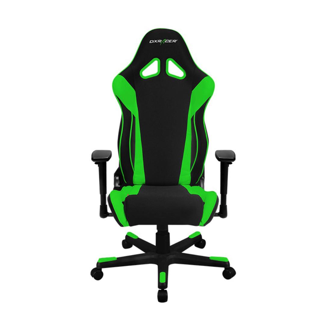 Кресло игровое DXRacer R106, Нагрузка (max): 120 кг, Подлокотники, Подголовник, Вентиляция, Цвет: Чёрно-зелёны