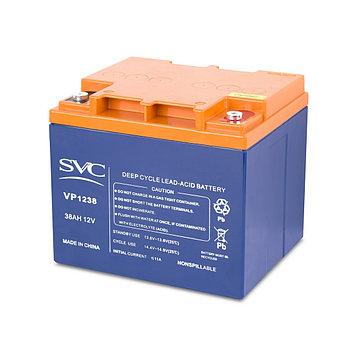 Батарея необслуживаемая (аккумулятор) SVC VP 1238 (12V 38 Ah), Емкость аккумулятора: 38 Ah, Разъемы: F5/F12