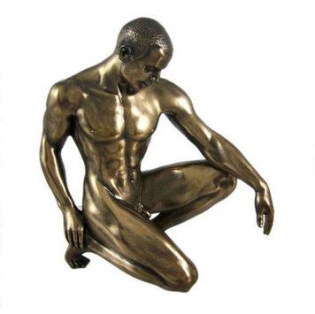 Статуэтка декоративная Veronese Design Artistic Nudes WU75079А1, Высота: 150 мм, Материал: Полистоун, Цвет: Бр
