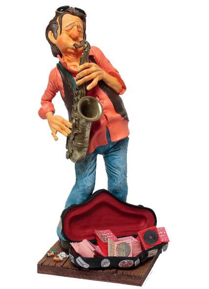 Статуэтка декоративная Forchino Саксофонист, Высота: 400 мм, Материал: Полистоун, Цвет: Разноцветный, (FO85518