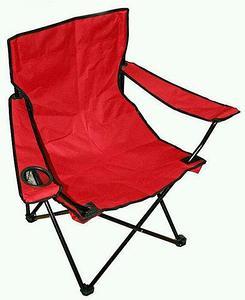 Кресло складное туристическое с подстаканником в чехле (Красный)