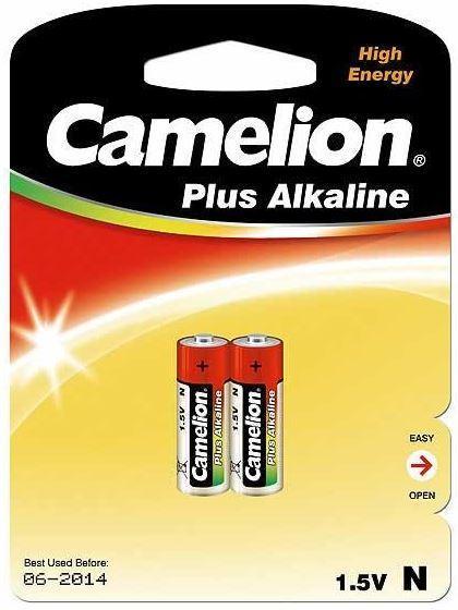 Батарейка Camelion LR1-BP2 1,5 В, Упакова: Блистер 2 шт., Аналоги: LR1\910A, Тип батареи: Щелочная (Алкалинова