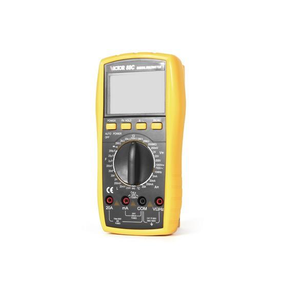 Мультиметр цифровой VICTOR 88C, Измерение: , U+, U~, I+, I~, R, C, t°, T, L, PN переход, Прозвонка