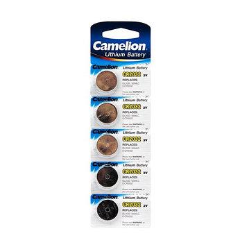 Батарейка Camelion CR2032-BP5 3 В, Упакова: Блистер 5 шт., Аналоги: CR2032\5004LC, Тип батареи: Литиевая, Совм