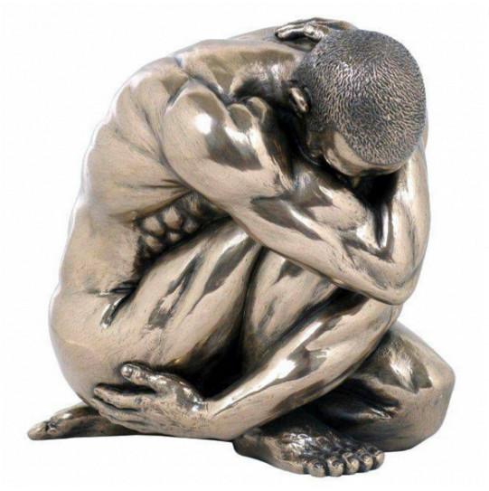 Статуэтка декоративная Veronese Design Artistic Nudes WU74767А1, Высота: 110 мм, Материал: Полистоун, Цвет: Бр